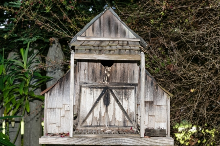 Rustic old birdhouse photo