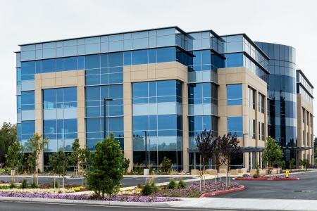 Modern office building in silicon valley, California