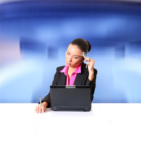 Women office person with a dejected facial expression. Please see some of my other business images: Stock Photo - 4241926