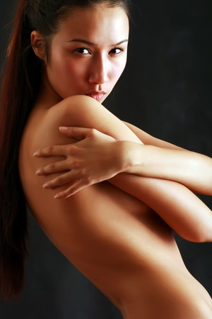 bared: Bared girl clasps itself for shoulders. Please see some of my other images: