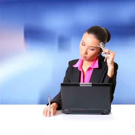 Women office person with a dejected facial expression. Please see some of my other business images: Stock Photo - 4359530