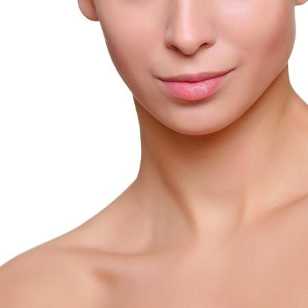 Teil eines sch�nen weiblichen Gesicht der N�he, isoliert auf wei�em Hintergrund, finden Sie einige meiner anderen Teilen des K�rpers Bilder: