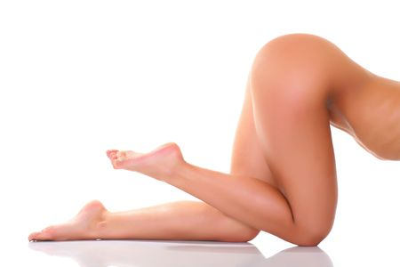 naked female body: Pose the naked female body in a profile