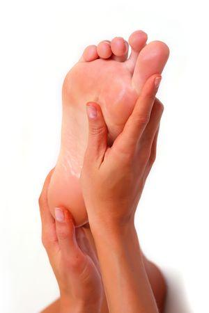 Massage durch die H�nde eines weiblichen Fu� �ber �l
