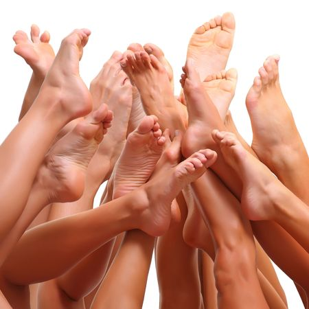 Feet and SPA, isolated on a white background, please see some of my other parts of a body images photo