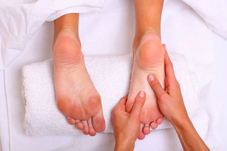 Massage and leaving of the female feet bared by a foot, please see some of my other parts of a body images photo