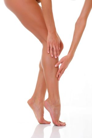 Well-groomed bared a foot of female feet Stock Photo
