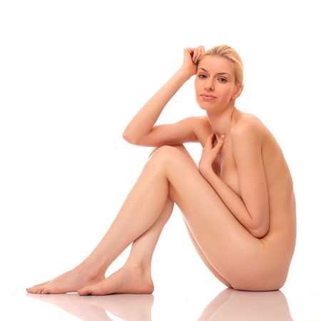 Sexy naked blonde girl Stock Photo - 4904236