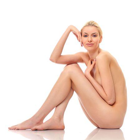 mujer desnuda: Hermosa mujer desnuda plantea