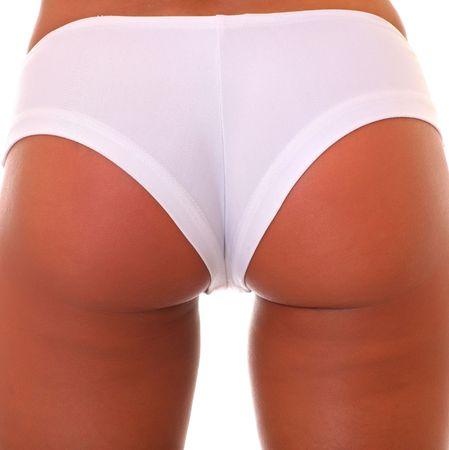Beauty girl back in white pants  photo