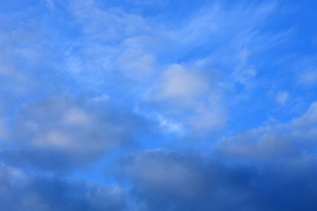 white fluffy clouds in the blue sky Stock Photo - 5081110