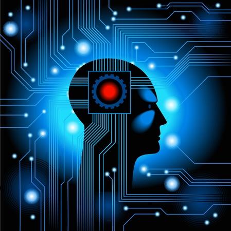 Menschliche Head.figure das Konzept der Künstlichen Intelligenz