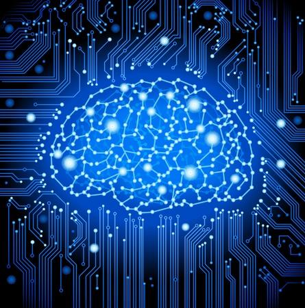 het concept van een denkend mens visualisatie van het proces van het denken