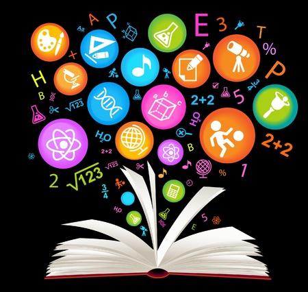 libro abierto: libro symbol.The Facultad de Ciencias Vectores