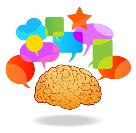Het concept van menselijke perceptie thinking.The en verwerking van de ontvangen informatie