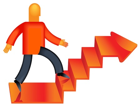 move forward. professional innovations career growth Stock Vector - 12186050