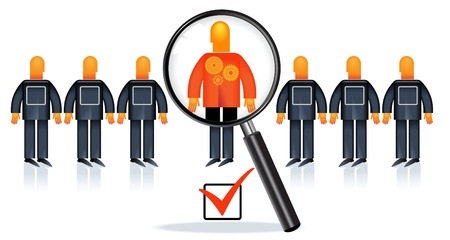 contrasts: People Recruitment Illustration