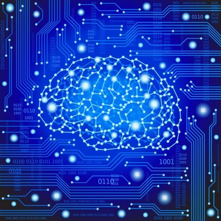nervenzelle: Das Konzept eines denkenden Menschen Visualisierung der Prozess des Denkens