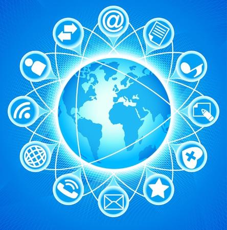 coordinacion: Social-Media-Globe El desarrollo de las comunicaciones globales