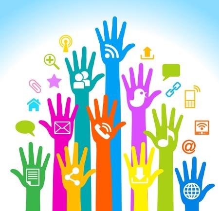 Media-Humano-Mobile en el desarrollo de la comunicación global de comunicaciones en redes móviles y de Internet