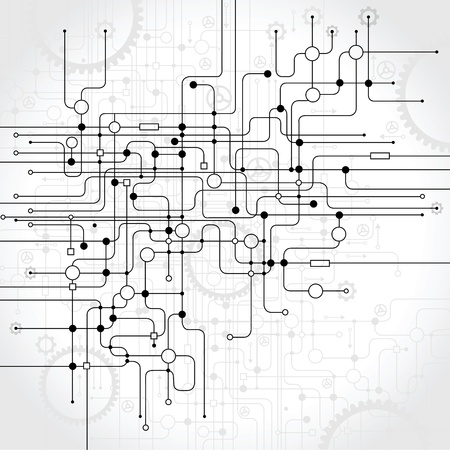 computer network: abstract vector background  Science and technology Illustration