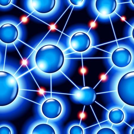 nervenzelle: nahtlose Vektor Hintergrund Konzept der Betrieb von Computer-Netzwerk arbeiten die Nervenzellen des menschlichen