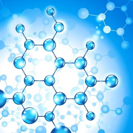 productos quimicos: fondo abstracto formado por moléculas de ADN