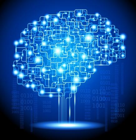zelektryzować: Koncepcja myÅ›lenia tÅ'o z mózgu plik jest zapisywany w AI10 wersji EPS Ta ilustracja zawiera przezroczystość