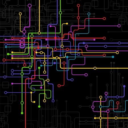 abstract vector background  Science and technology Illusztráció