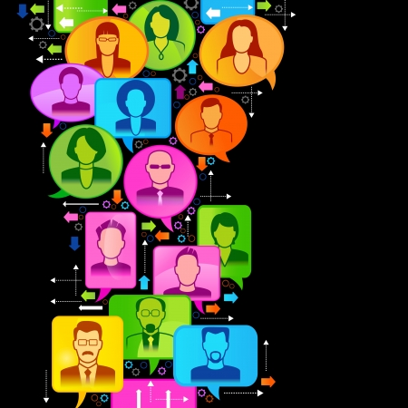 Vector illustration of the concept of people