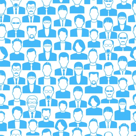 crowd source: vector  background consists of many icons of modern humans.      the concept of communication between people.