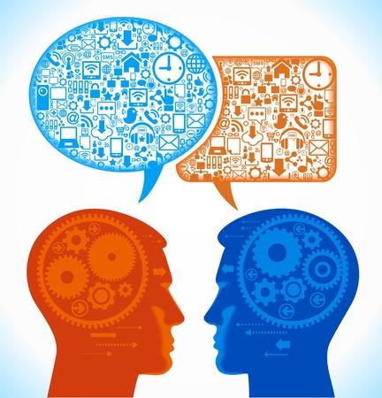 conquering adversity: red social, la comunicaci�n en las redes inform�ticas mundiales Vectores
