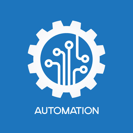 gear symbol: The concept of automatic process Illustration