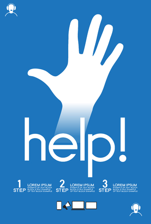 saved: Helpful icon. Service concept us support help desk. Infographics design web elements. Template background. File is saved in AI10 EPS version.