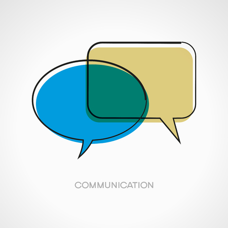 speech bubbles. Doodle vector illustration. Communication concept. The file is saved in the version 10 EPS.