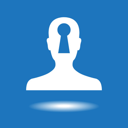 inaccessible: Insider Secret Icon. The file is saved in the version 10 EPS. Illustration