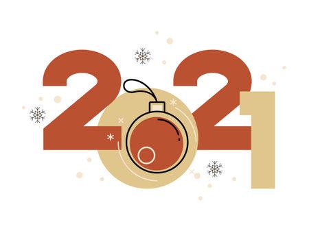 Vector 2021 Happy New Year background. christmas card. Illusztráció