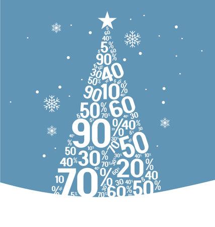 Christmas sale banner. Flat modern design. Web banner, header for website. Illusztráció