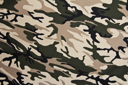 Army woodland -military camouflage fabric photo