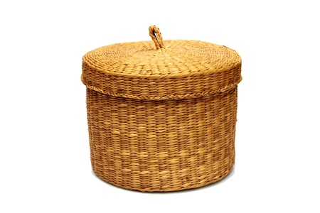 decorative empty wicker basket Stock Photo - 13931518