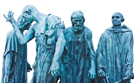 The Burghers of Calais  Les Bourgeois de Calais , one of the most famous sculptures by Auguste Rodin Stock Photo - 17254152