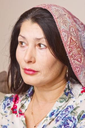 Closeup portrait of a beautiful asian woman