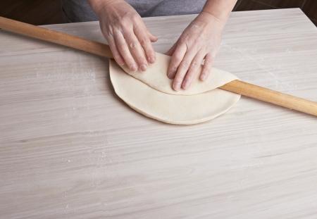 dough preparation Stock Photo