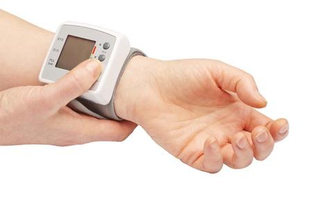 Blood pressure meter Stock Photo