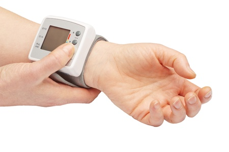blood pressure monitor: Blood pressure meter Stock Photo