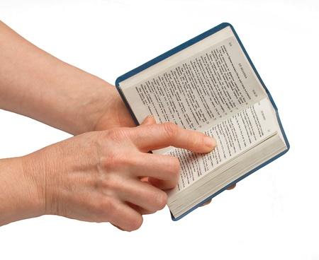 humbled: Woman reading bible