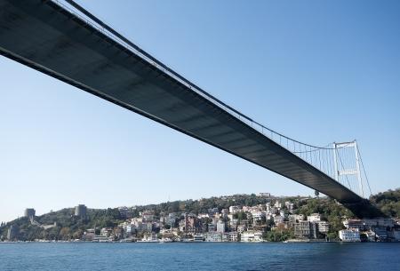 The First Bosporus Bridge connecting Europe and Asia  Turkey  Stock Photo