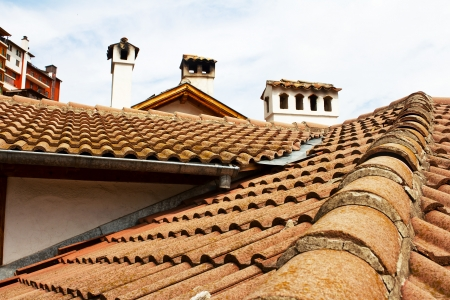 aslant: Roofs, flues  The picture is made in Veliko Tyrnovo, Bulgaria