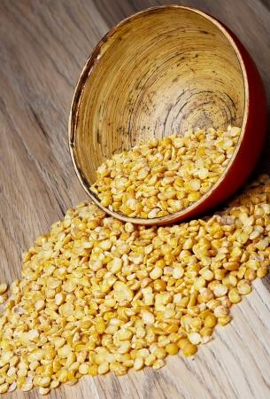 Lentils wooden bowl  photo