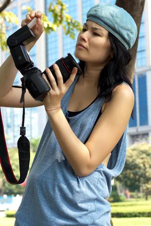 Professional Photographer Stock Photo